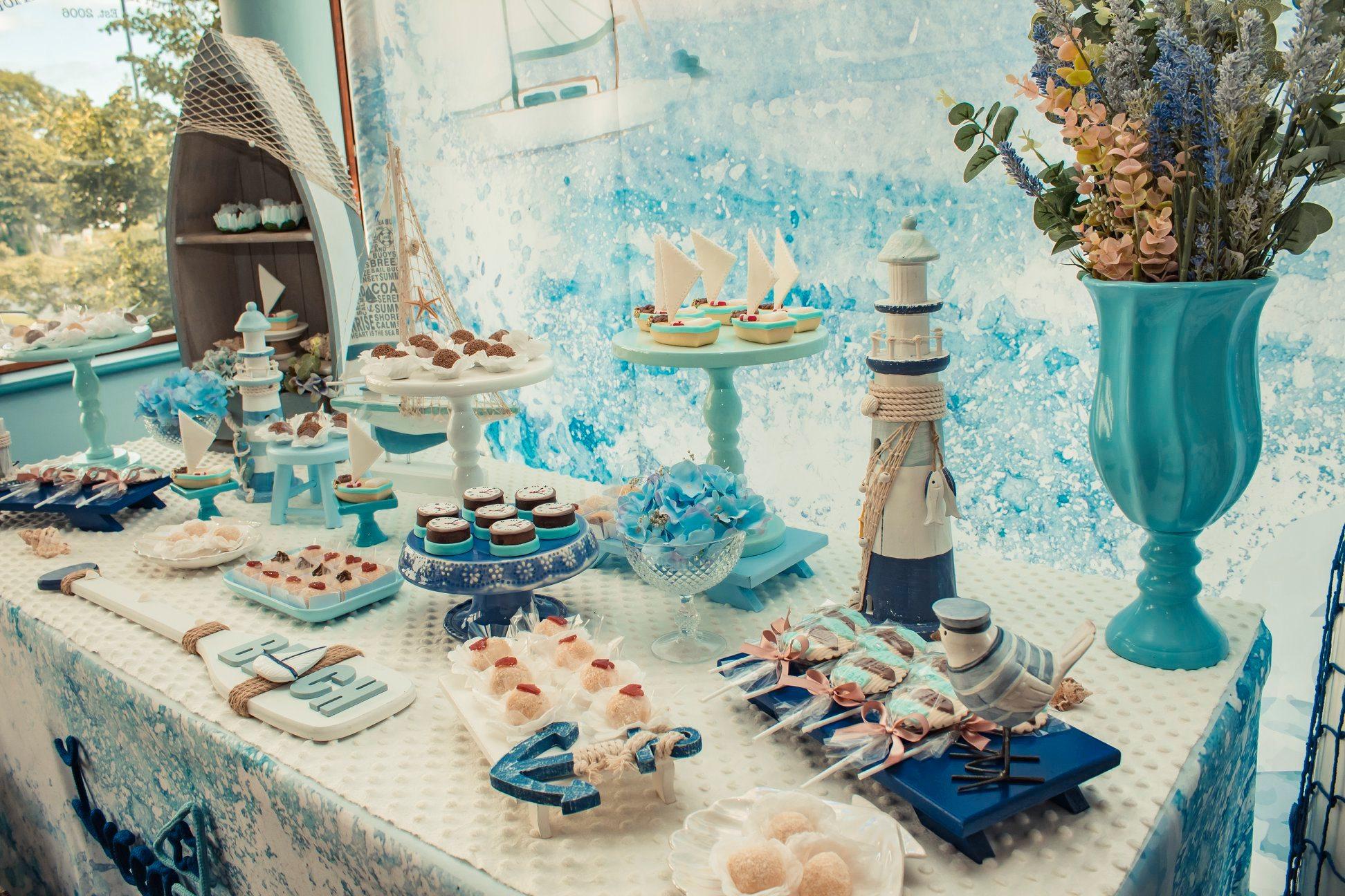 baby shower garçon table dessert belle formation